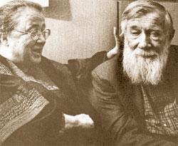 Борис Горев (в «ЛГ» с 1990 по 1997 год). Писатель Андрей Синявский с супругой Марией Розановой.