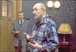 Михаил Козаков и Алексей Серебряков. Рабочий момент съёмок