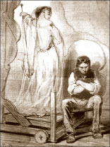 П. Гаварни. «Художник и его жена». 1847 г. Литография. Из серии «Домашние впечатления»;    Фото автора