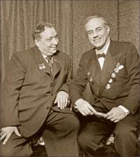 И.С. Козловский и М.Д. Михайлов, 1951 г.;   фото: ИТАР-ТАСС