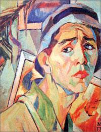 А. Дейнека. Автопортрет в панаме, 1920-е