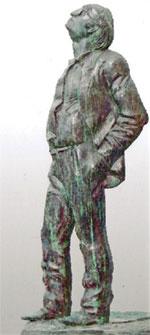 Фрагмент проекта скульптурной композиции, посвящённой Иосифу Бродскому. Скульптор Георгий Франгулян, архитектор Сергей Скуратов
