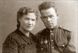 Александр Шеногин и его жена Вера;  Фото из семейного архива