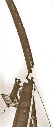 А. Абаза. Монтажники. Узбекистан, 1972