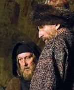 Олег Янковский (митрополит Филипп) и Пётр Мамонов (Иван Грозный)