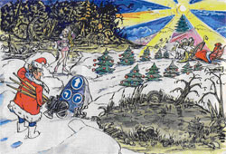 Рисунок Владимира САКОВ А, режиссёра-аниматора студии «Тема»