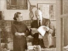 Сергей Герасимов с женой Тамарой Макаровой, 1974 г.; ИТАР-ТАСС